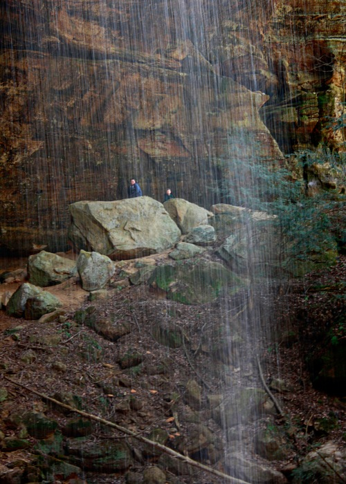 boys waterfall ash cave