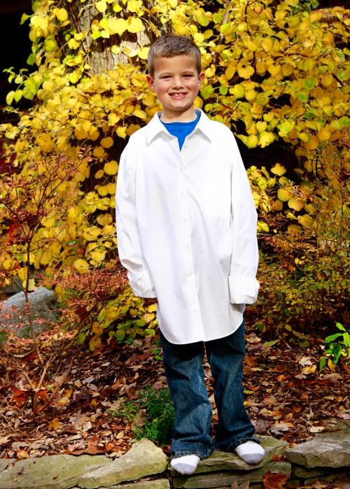 M 2 white shirt