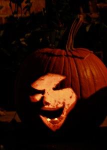 sinister face pumpkin 13
