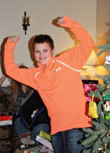 G orange shirt
